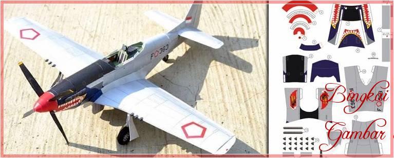 Sketsa Papercraft Pesawat