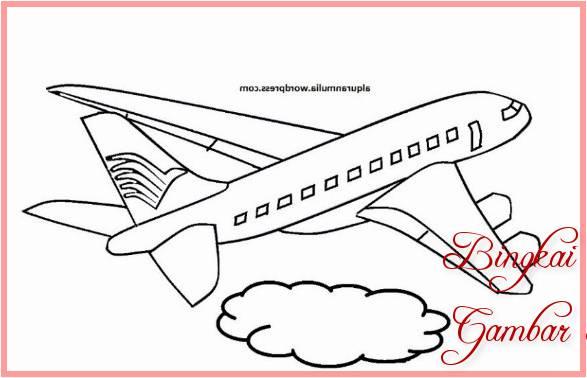 30 Gambar Sketsa Pesawat Paling Keren 2019 Bingkaigambar Com