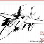 Sketsa Pesawat Jet Tempur