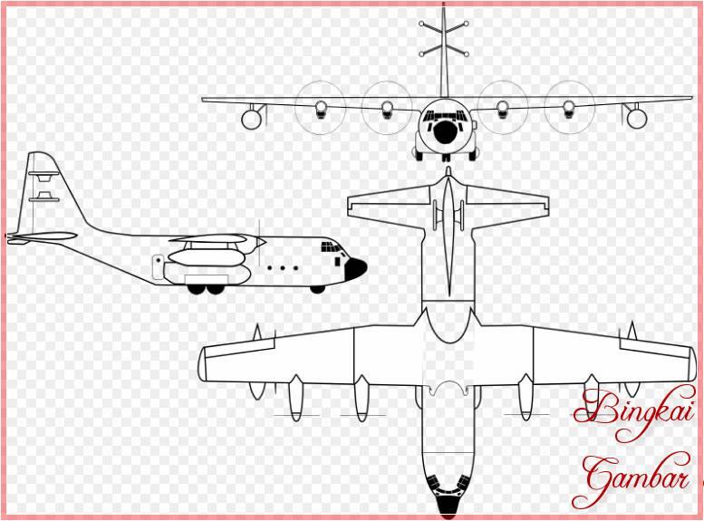 Sketsa Pesawat Kargo