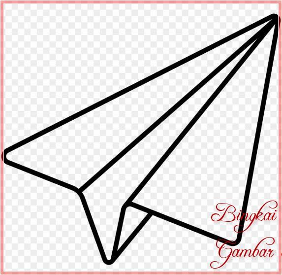 Sketsa Pesawat Kertas