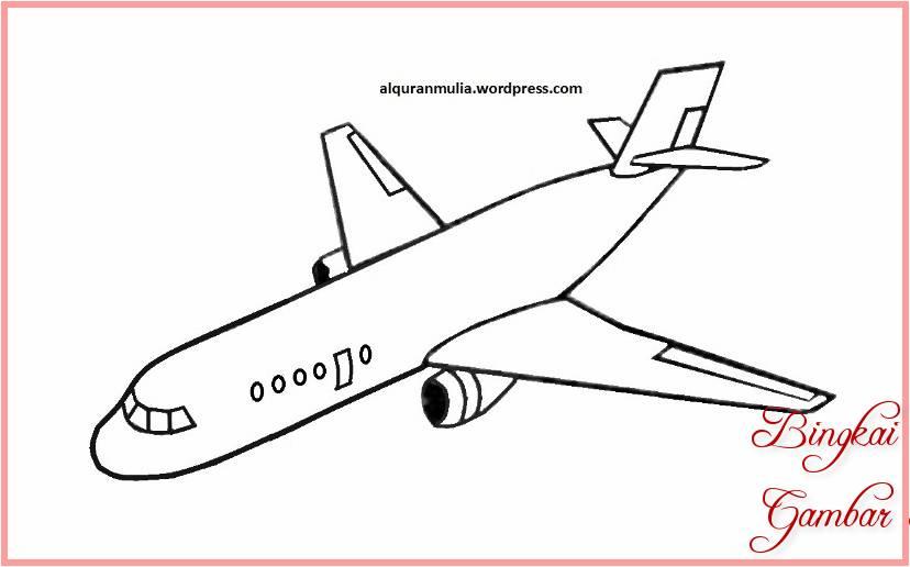 Sketsa Pesawat Mudah