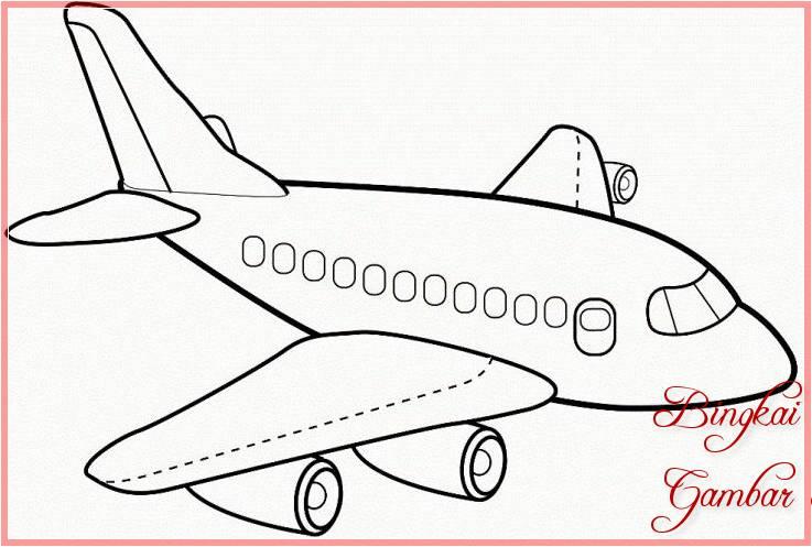 Sketsa Pesawat Simple