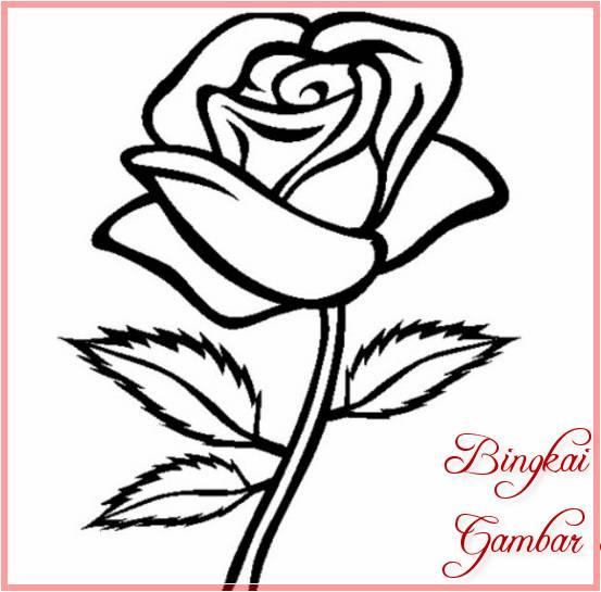 17 Gambar Sketsa Bunga Sederhana Paling Cantik 2019 Bingkaigambarcom
