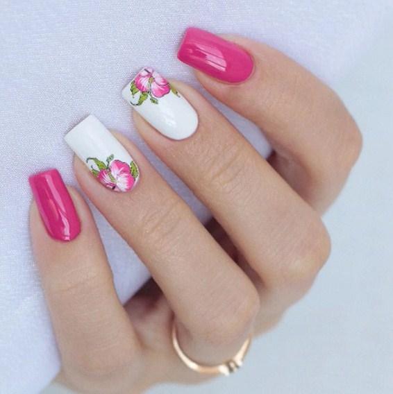 Contoh Nail Art Bunga