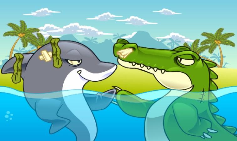 Gambar Buaya Ikan Kartun