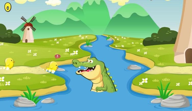 Gambar Kartun Buaya Di Sungai