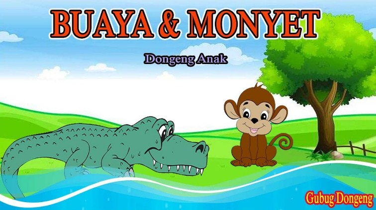 Gambar Monyet Dan Buaya Kartun