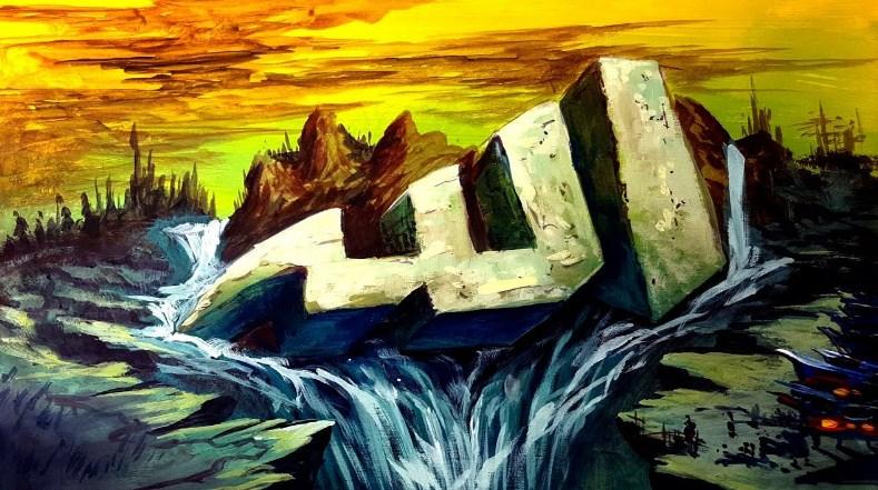 Kaligrafi Allah Lukisan Simple