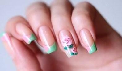 Nail Art Bunga Mawar