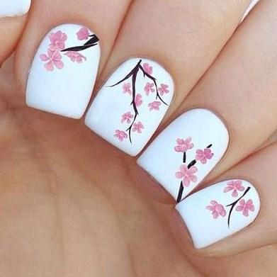 Nail Art Bunga Sakura