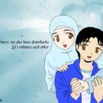Gambar Kartun Islami Pasangan Romantis