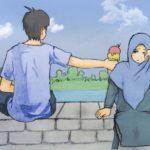 Gambar Kartun Islami Romantis