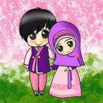Gambar Kartun Islami Yang Romantis