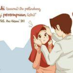Gambar Kartun Romantis Islami Dan Kata Kata
