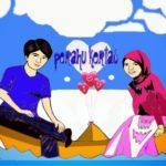 Kartun Islami Pasangan Romantis