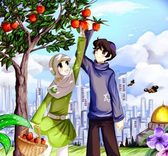 Kartun Islami Romantis